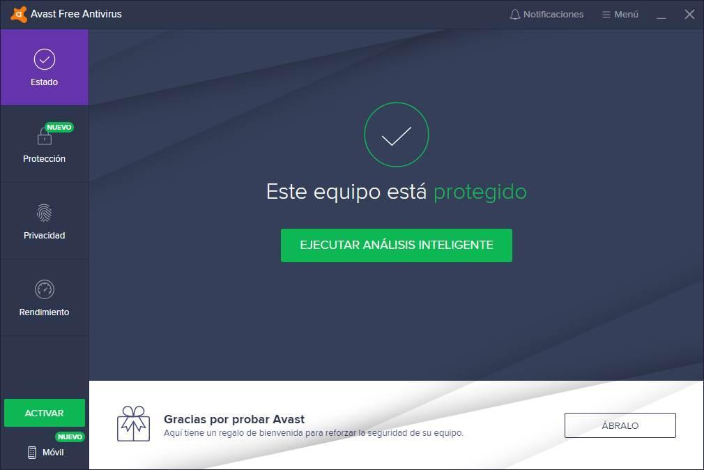 Avast Antivirus W10