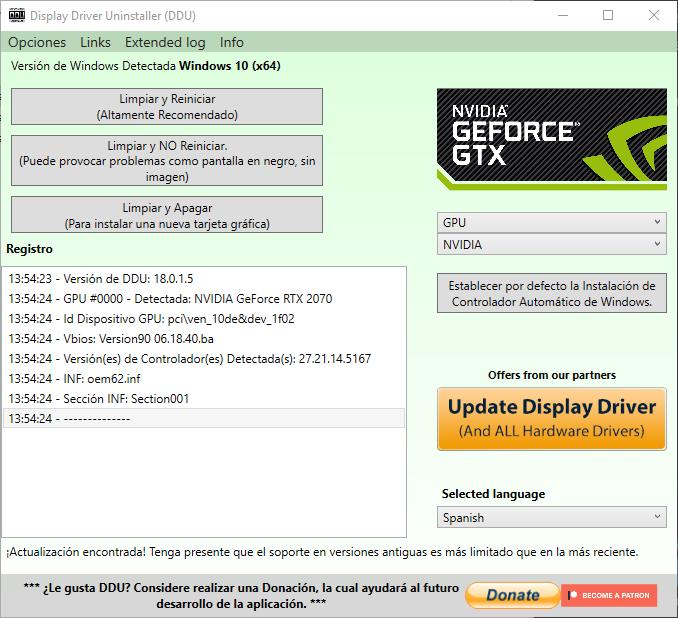 DDU Screenshot