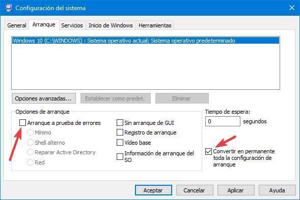 Desactivar Modo Seguro en Windows 10