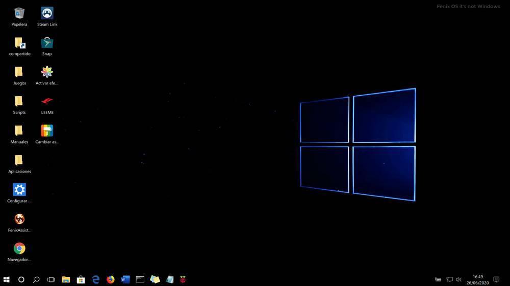 Fenix OS Windows 10