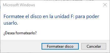Formatear unidad F Windows