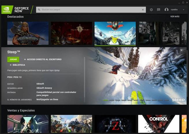 GeForce NOW - juegos uPlay