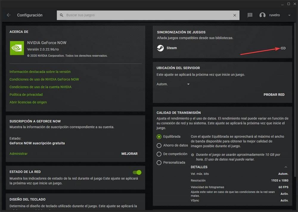 GeForce NOW - vincular y añadir juegos de Steam 2