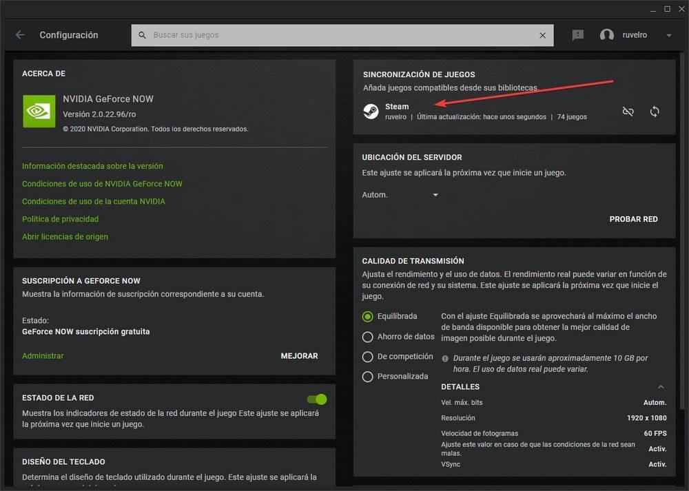 GeForce NOW - vincular y añadir juegos de Steam 4
