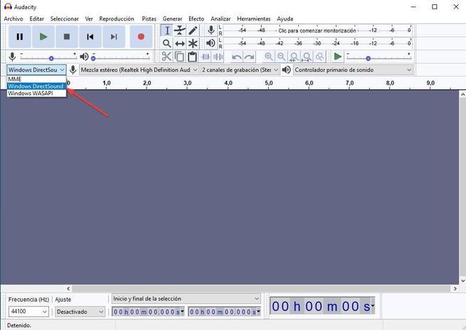 Grabar sonido altavoces Audacity 01