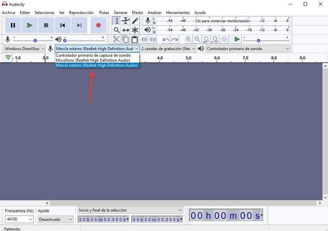 Grabar sonido altavoces Audacity 02