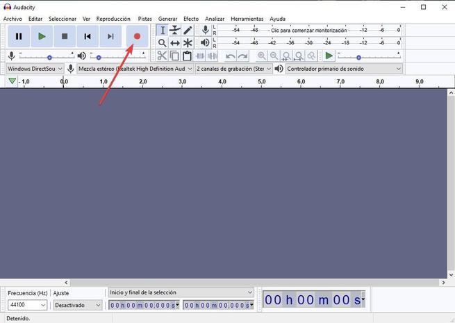 Grabar sonido altavoces Audacity 04