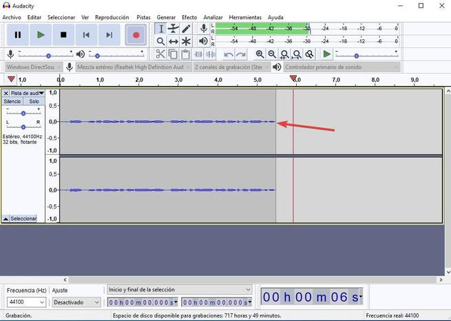 Grabar sonido altavoces Audacity 05