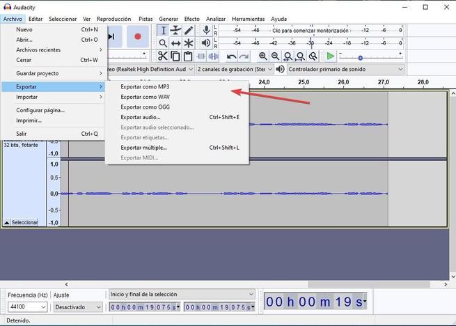 Grabar sonido altavoces Audacity 06