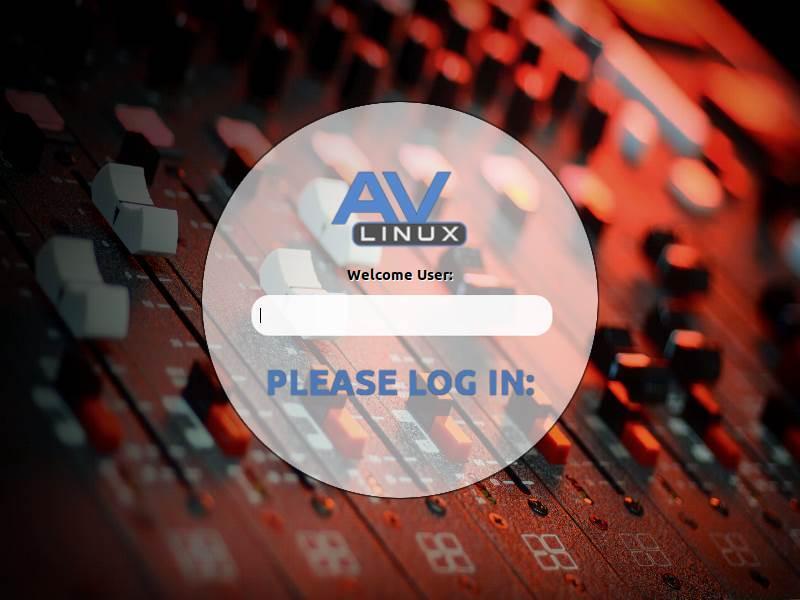 Login AV Linux