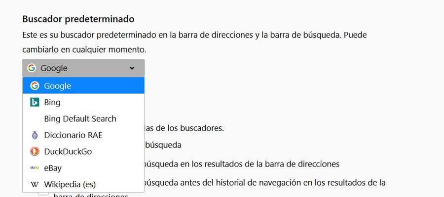 Motor de búsqueda Firefox