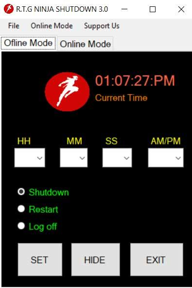 RTG Ninja Shutdown