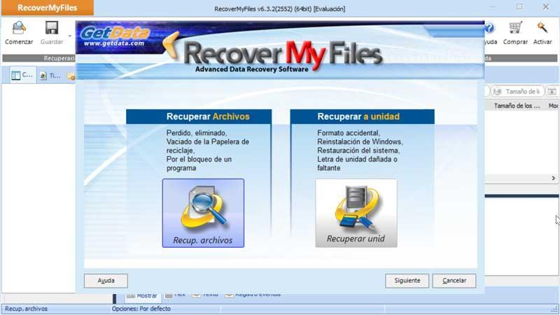 Récupérer mes fichiers asistente de recuperación de archivos