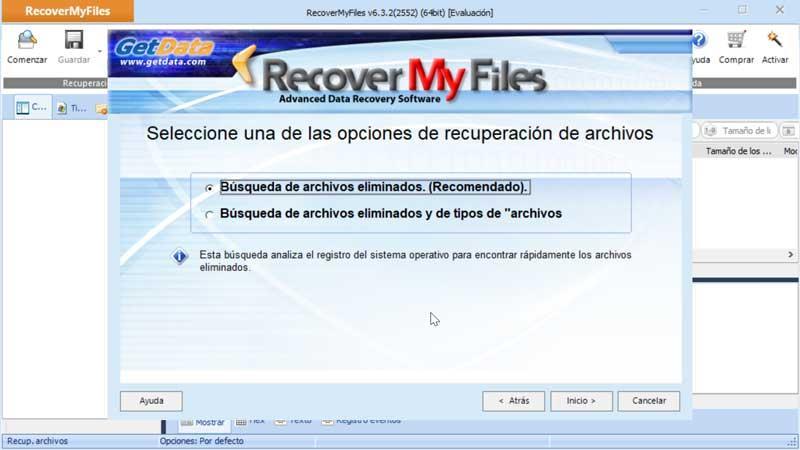 Récupérer mes fichiers opciones de recuperación de archivos