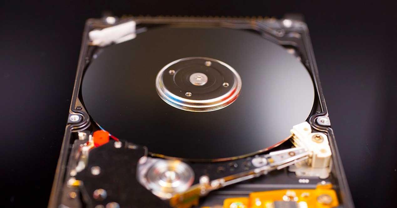 Vista disco duro limpio