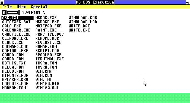 Windows 1.0 navegador