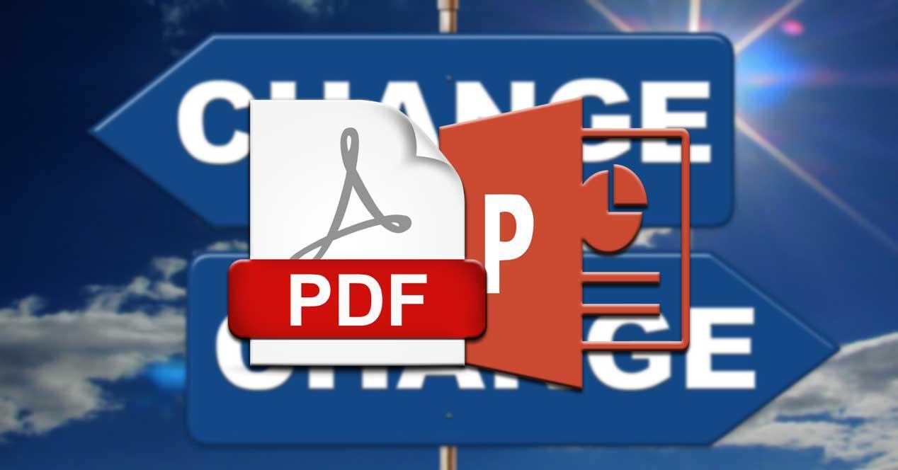 POwerPoint PDF convertir