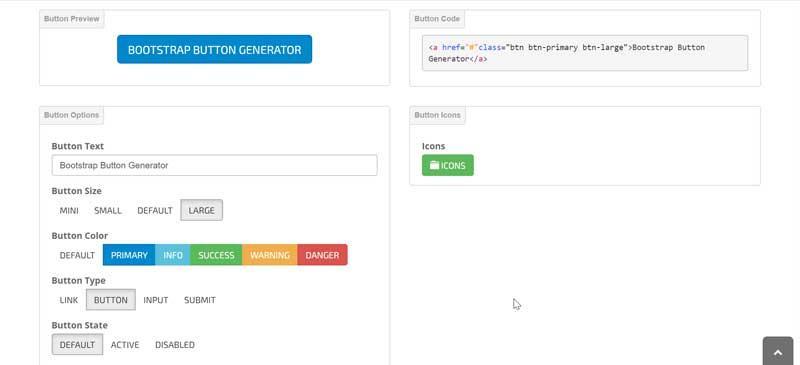 Bootstrap Button Generator