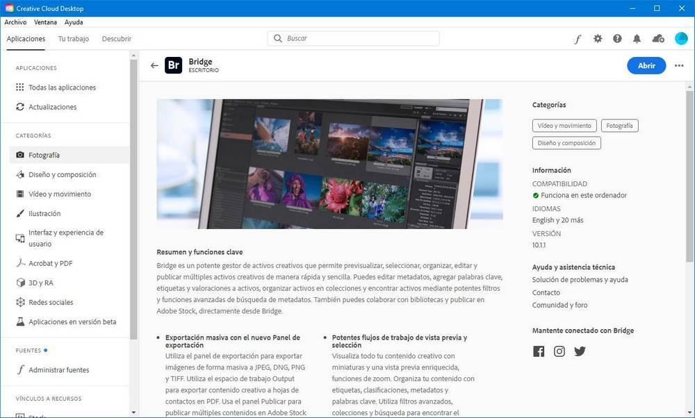 Creative Cloud - Descargar Adobe Bridge