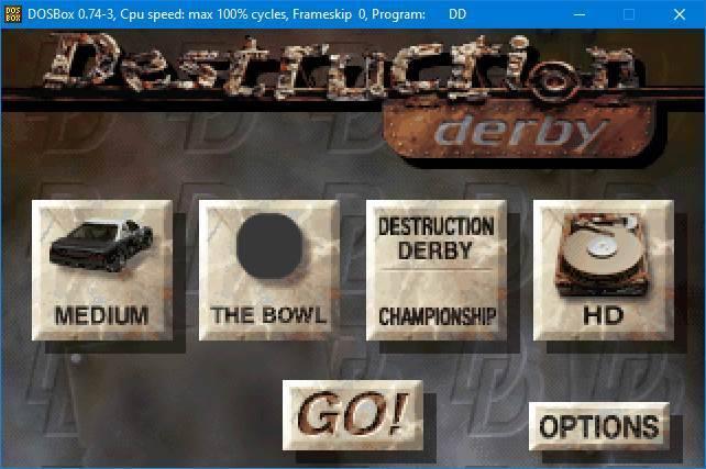Derby DOSBox de distrugere