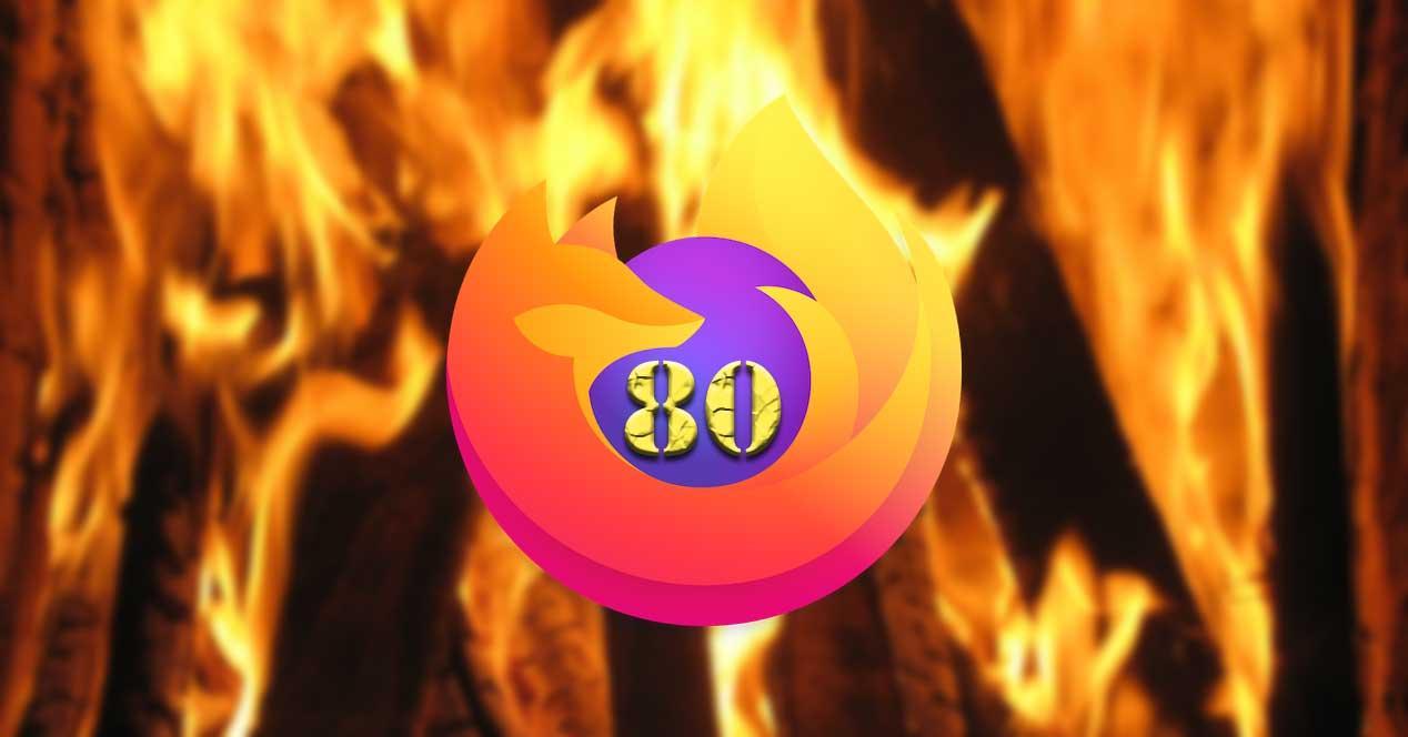 Firefox 80 fuego
