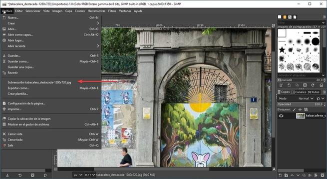 GIMP interfaz ampliar 03
