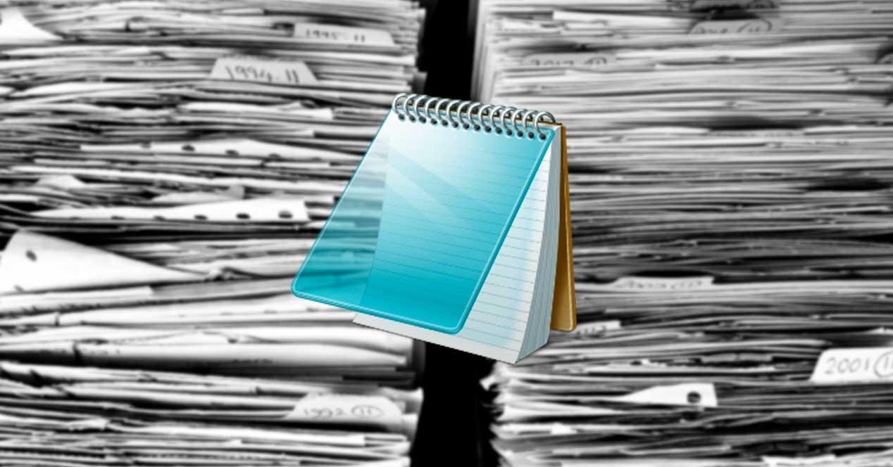 Bloc notas archivos grandes
