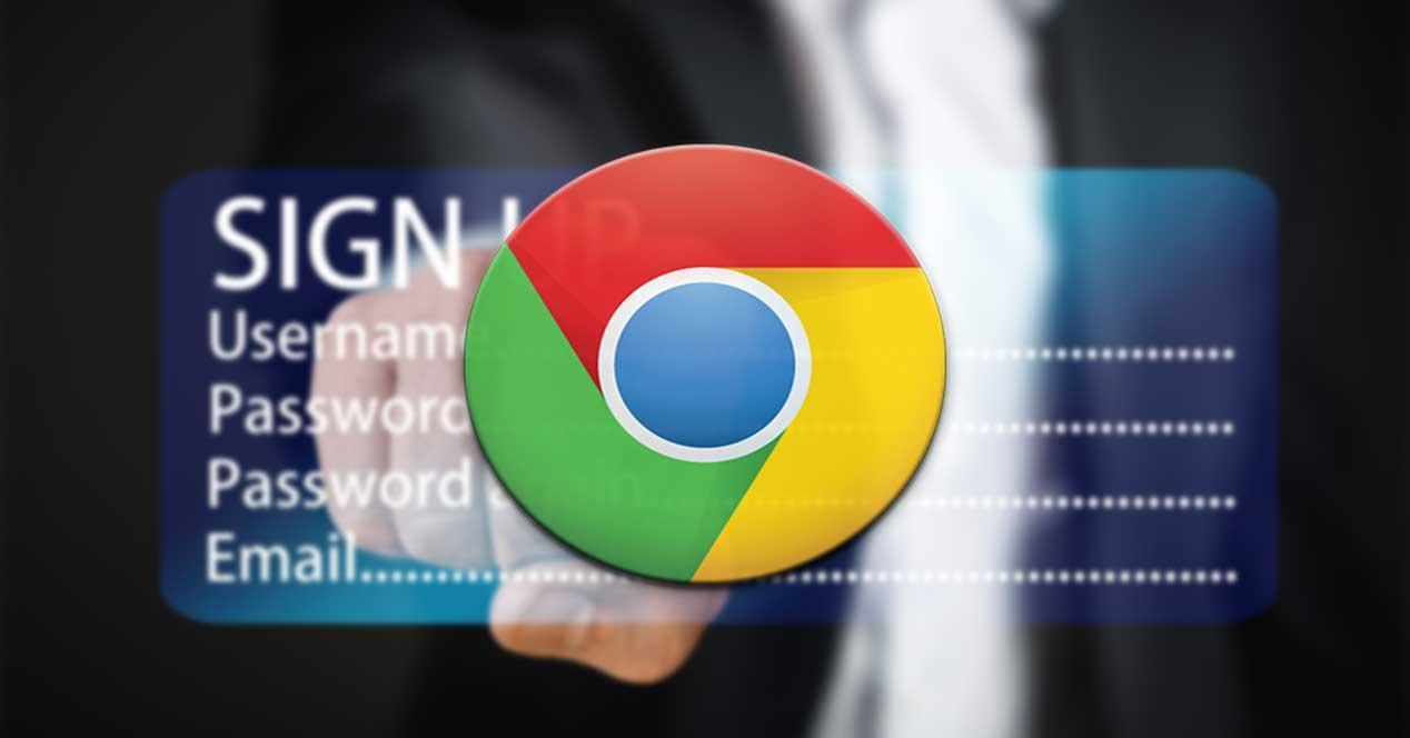 Chrome contraseñas