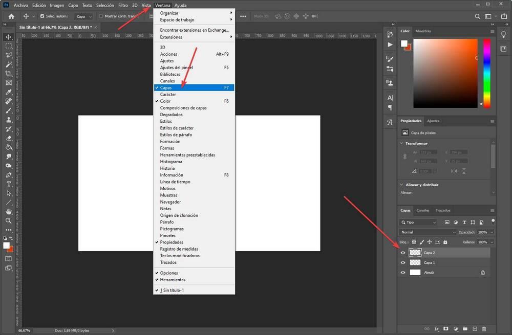 Crear editar capas en Photoshop - 1