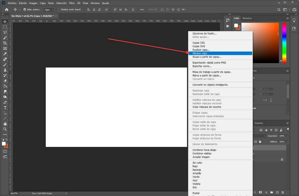 Crear editar capas en Photoshop - 3