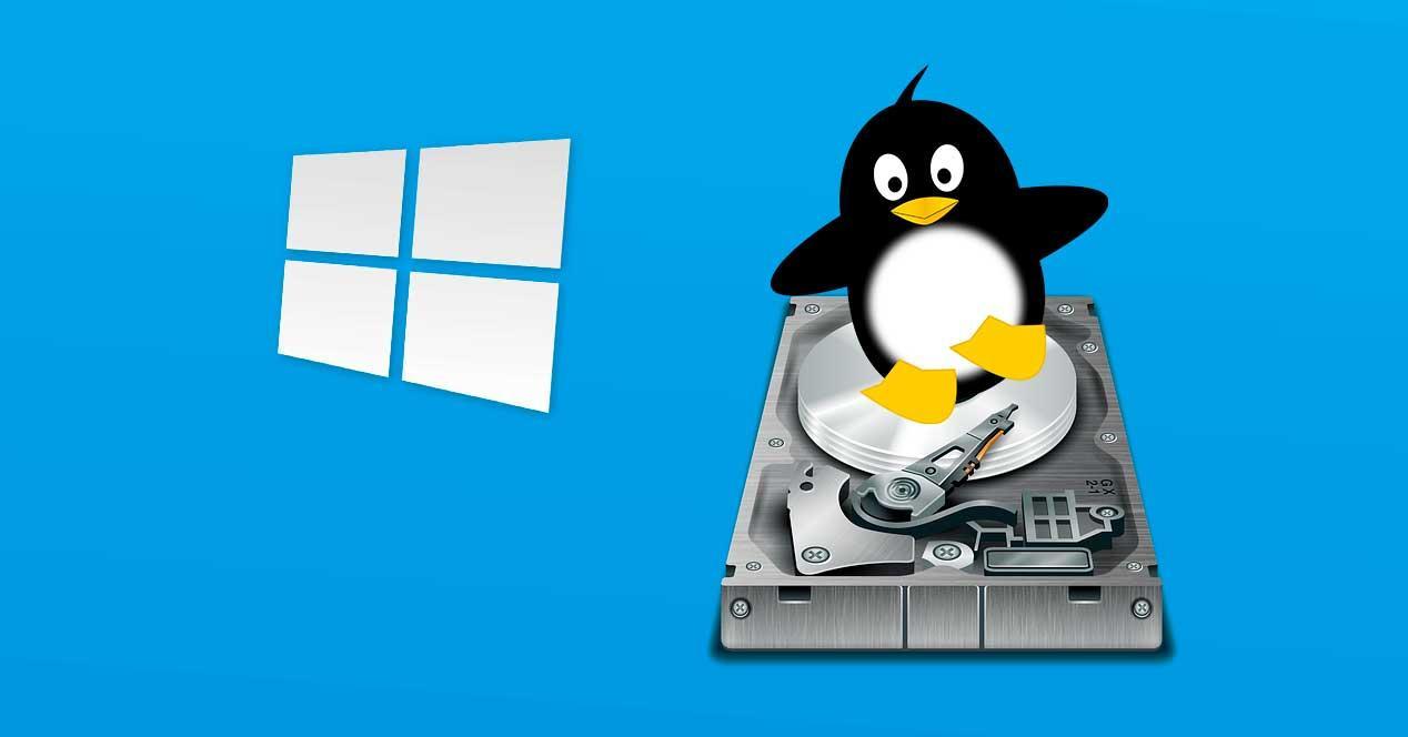 Disco duro Linux en Windows