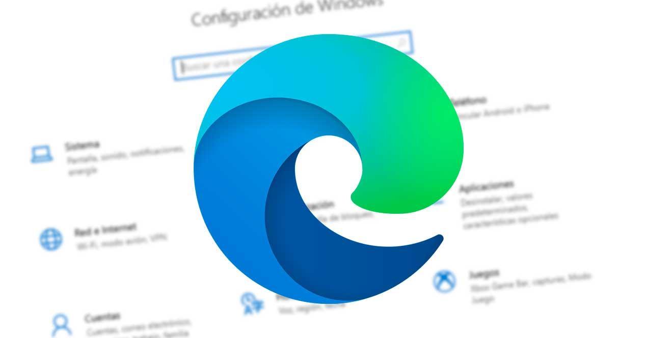 Edge en Configuración W10