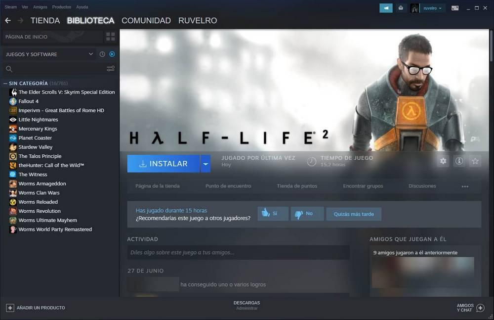 Instalar juego de Steam