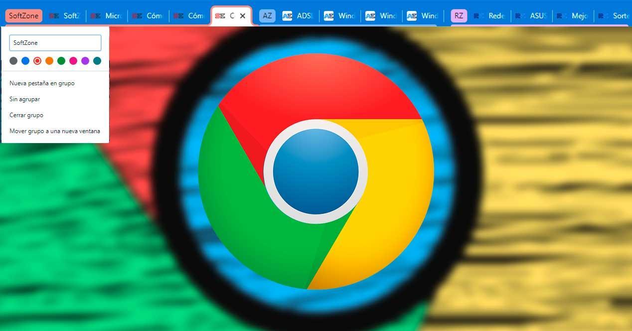 Nuevos grupos de pestañas en Chrome