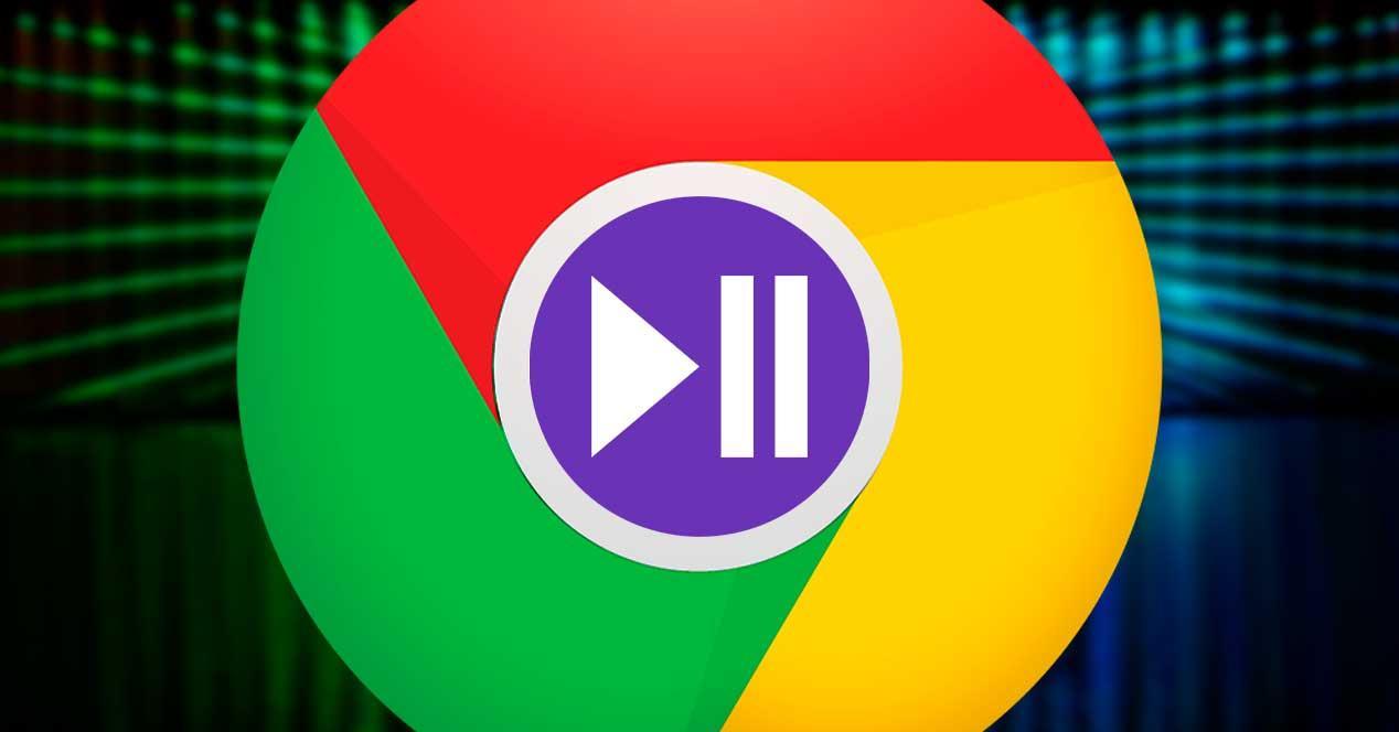 Play Pause Multimedia Chrome