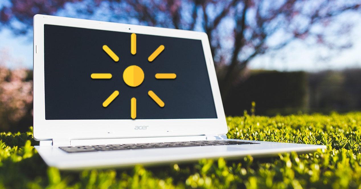 Ajustar el brillo de la pantalla del ordenador