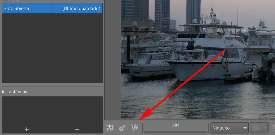 Botón enviar a GIMP