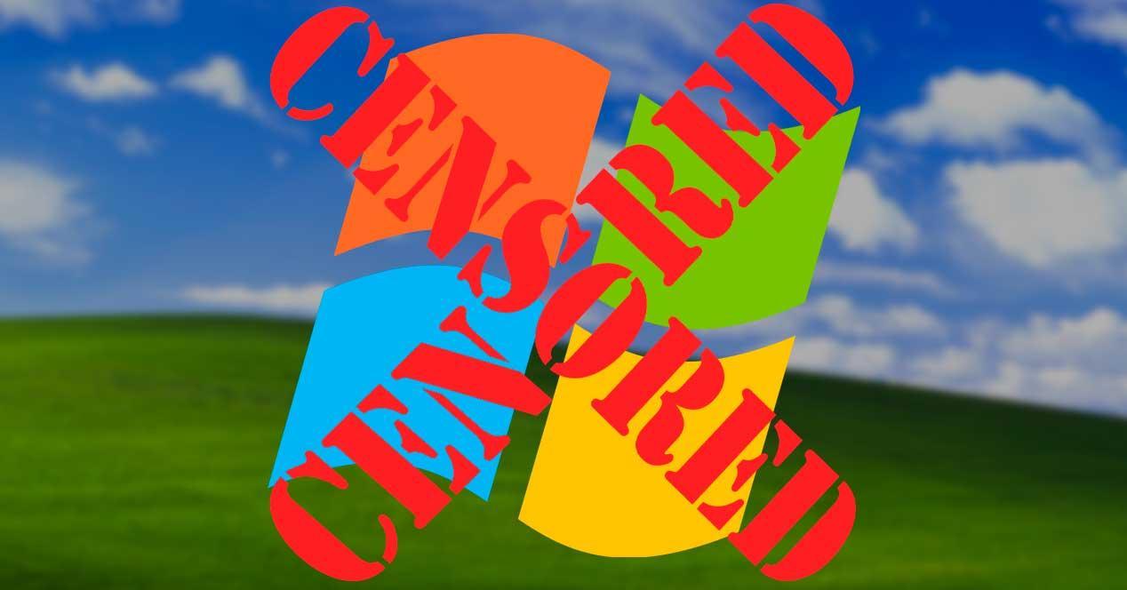 Censura Microsoft Windows XP
