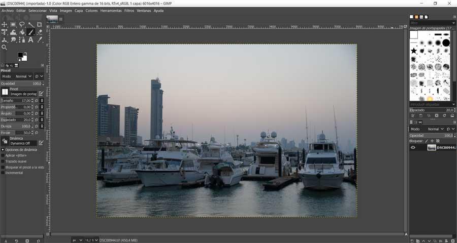Foto RAW en GIMP