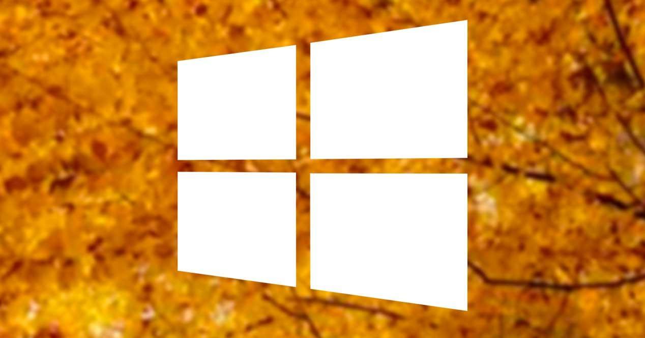 Octubre otoño Windows 10