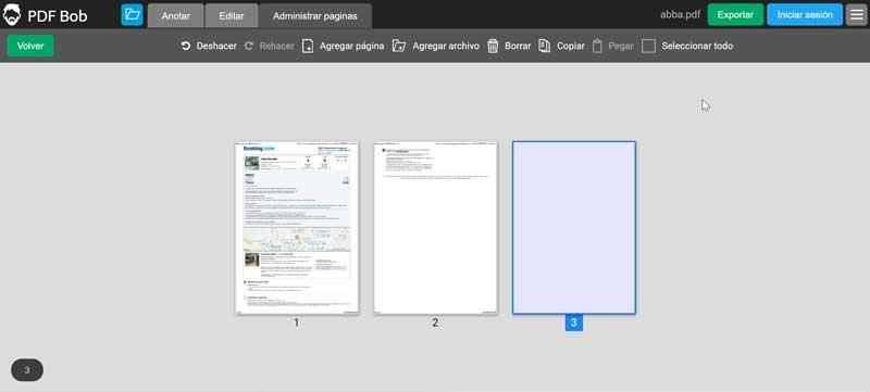 PDF BOB Administrar páginas