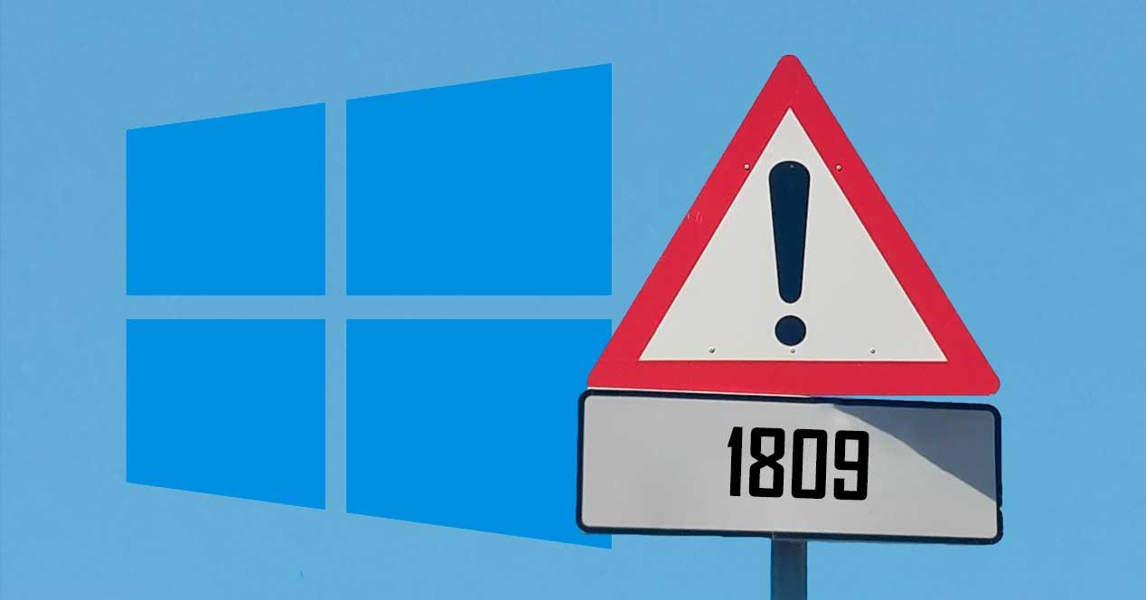 Aviso Windows 10 1809