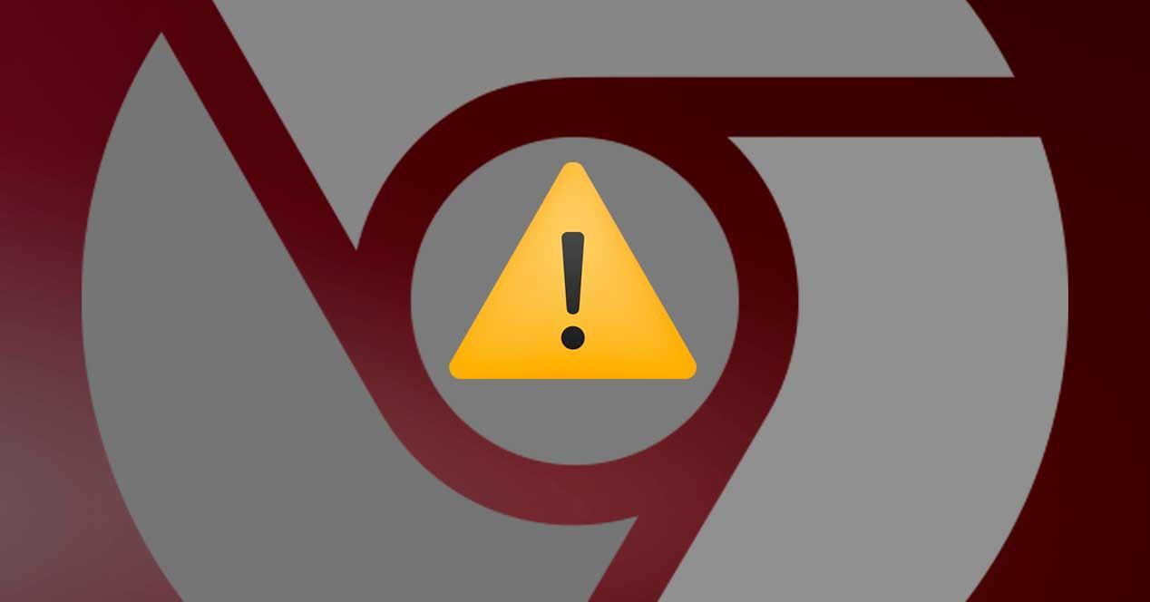 Chrome error aviso