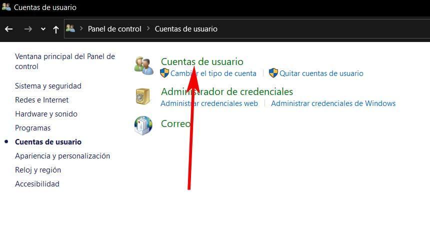 Cuentas Windows