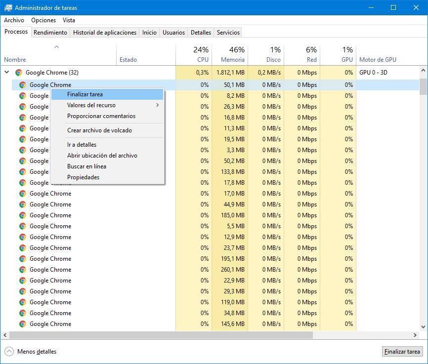 Windows administrador de tareas