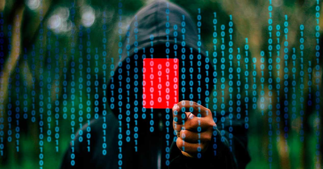 Hacker tarjeta roja seguridad
