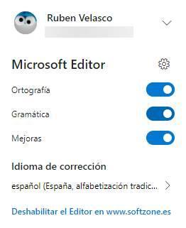 Microsoft Editor extensión