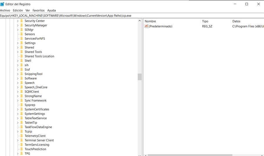 Windows Registro