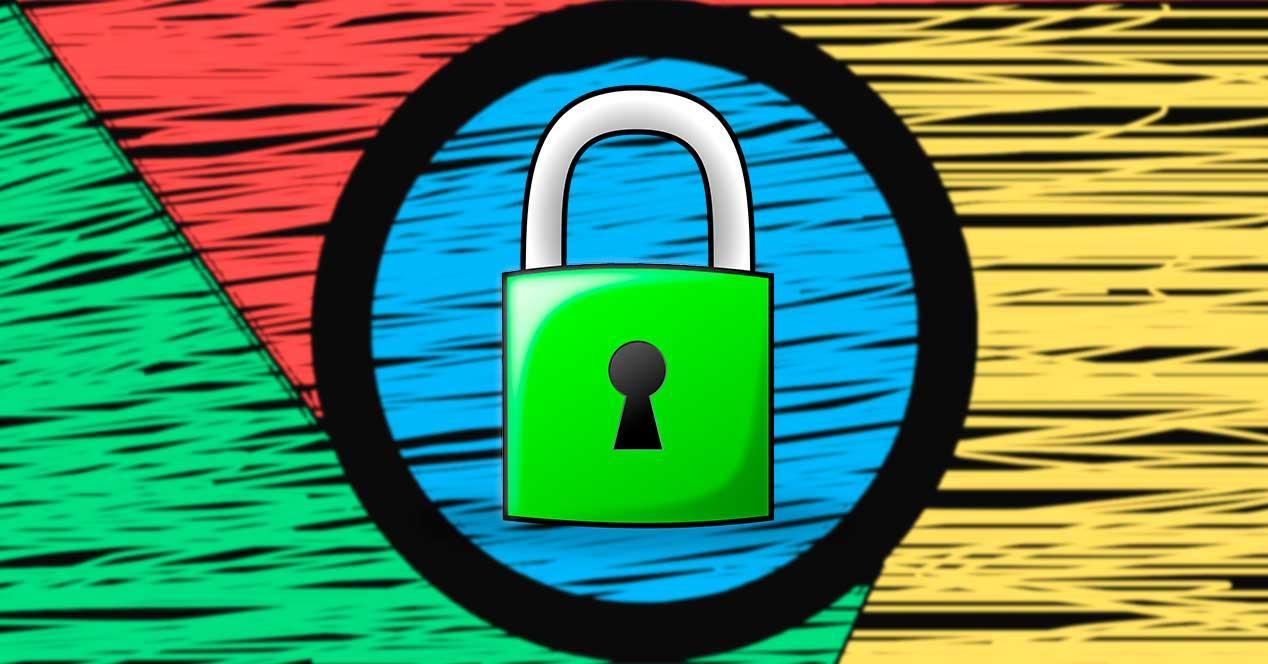 Seguridad Candado Chrome