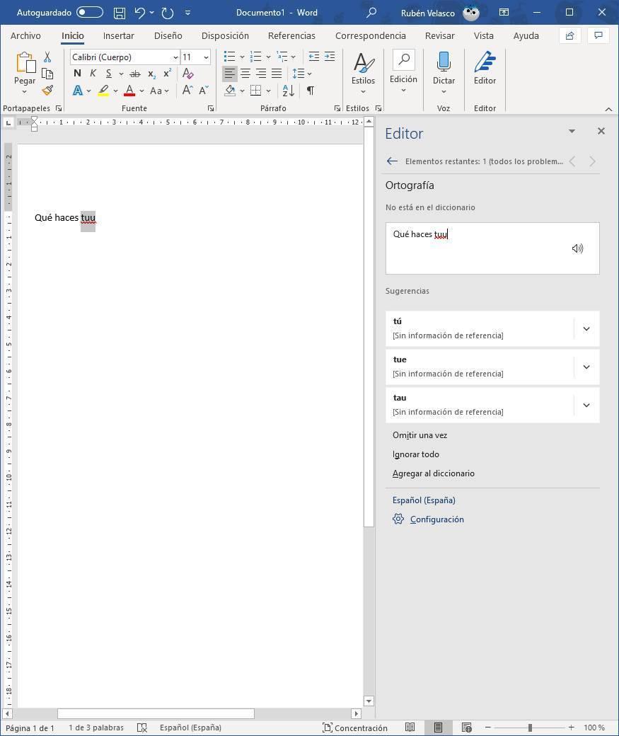 Sugerencias de corrección de Microsoft Editor